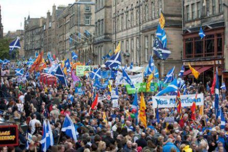 Manifestació a favor de la independència d'Escòcia