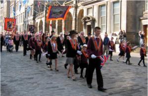 Marxa orangista a Edimburg del 12 de setembre passat