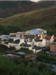 El parlament escocès des de Calton Hill